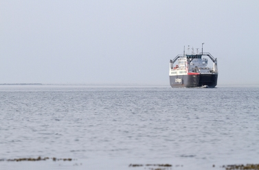 KANHAVE was originally built to the west-route. Here the ferry arrives at Sælvig from Hou back in 2011.