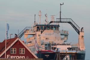 Here berthed in Sælvig.