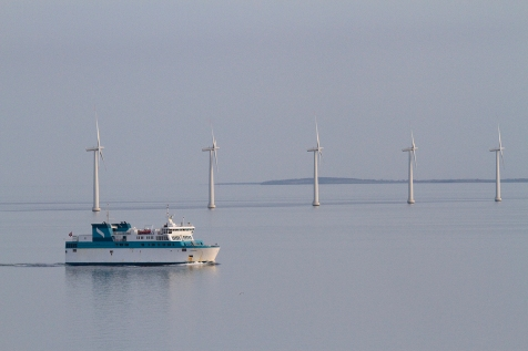 Back in 2011 Danske Færger traded under the brand Nordic Ferry Service on both the east- and west-route. Here the ferry KYHOLM on the Zeeland line heading south off Samsø towards the small harbour at Kolby Kaas, used for the east-route until the opening of the new Ballen facility.