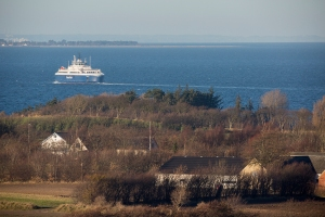 Municipality-owned LNG-powered PRINSESSE ISABELLA photographed from the hill Dyret (The beast or maybe just the animal).