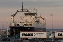 The new established harbour south of Ballen servicing Danske Færger's east-route to Kalundborg opened 2015.
