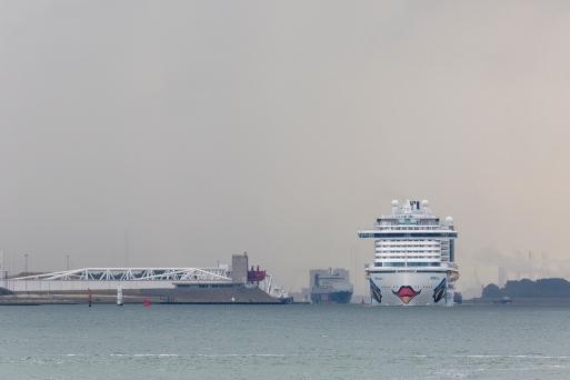 AIDA PRIMA departs Rotterdam via Masssluisse and Hoek van Holland, 2017.