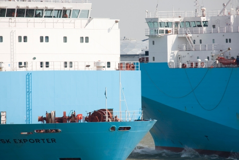 In and outgoing Maersk-blue ro/ro-ships from Norfolkline - now a part of DFDS, 2008