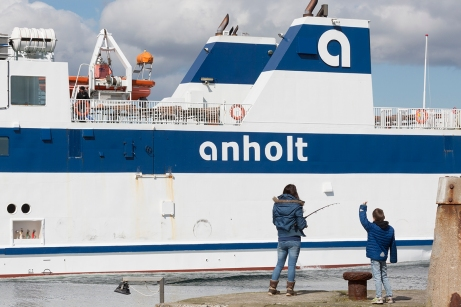 ANHOLT arrives from the remote island form which the ferry is named.