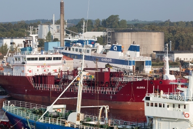ANHOLT on the stock at the local ship yard